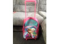 DISNEY FROZEN PULL ALONG SUITCASE TROLLEY GREAT CONDITION SMOKE AND PET FREE HOME