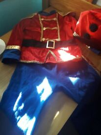 Kids little drummer boy dress up costume age 3 to 4