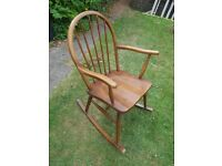 Solid Oak Anitique Wooden Rocking chair