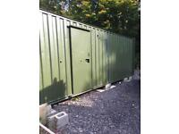 Steel portable site office, canteen, 26ft by 10ft, in great condition, anti vandals...