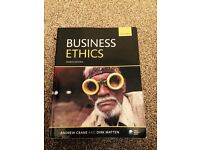 Textbook: 'Business Ethics' (Crane and Matten, Oxford, 4th edition)