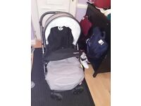 Oyster2 baby buggy including carrycot,buggy board,footmuff and changing bag