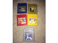 Nintendo Pokemon gameboy games