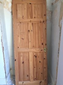Wooden door for sale, 198cm-76cm, £10, collection only, Weston Mill