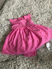 Brand new girls dress - 3-6 months Mothecare