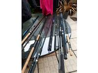 Fishing rods Will sell as individual rods but ideally want them all gone as i have no space
