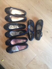 4 pairs of new girls black shoes £10