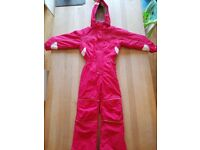 Pink 'Kids Trespass' Ski suit. Age 7/8, 122-128cm