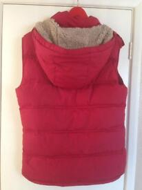 Jack Wills red hooded gilet
