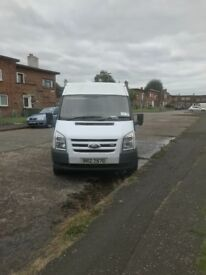 Ford transit with build in van pack jet