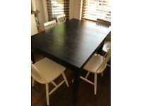Ikea BJURSTA Dinner Table and Chairs