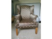 Comfy wing back chair