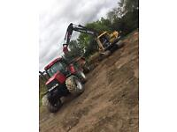 Digger hire and ground works