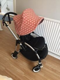 Bugaboo Bee**Custom Star Hood**Quilter handle covers and bag hooks**VGC