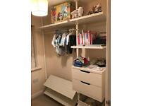 SOLD - Ikea Stolman wardrobe Pole system