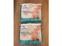 2 new packs of Boots baby nappies size 3