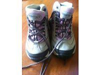 Grey/Lilac Kids hiking boots