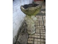 Bird Bath/Feeder, Nicely Weathered