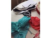 Size 12 bikinis. 2 of which not worn. A mix from next, animal, oasis etc