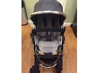 icandy peach 2 pushchair and carrycot