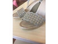 Ladies size 6 wedges sandals