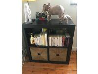 IKEA Dark Brown / Black Bookshelf Unit KALLAX