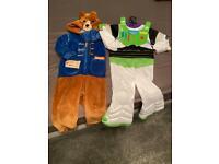 Paddington bear & buzz lightyear costume age 2-3