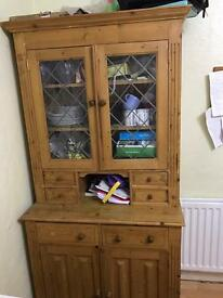 Showcase, Solid Oak Wood