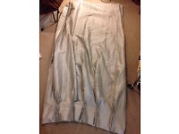 Three good quality unused silver coloured blackout curtains