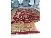 Lovely immaculate.9 x 6 ft per Persian rug. Red/beige