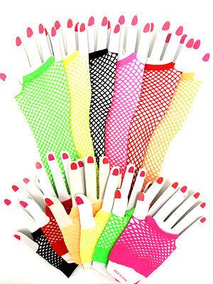 rts oder Lang Fischnetz Handschuhe 80' RETRO Kostüm (80 Paare Kostüme)