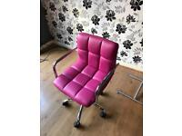 FREE delivery - Pink swivel chair good condition