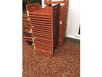 Approx x60 plastic stackable bread tray / crates