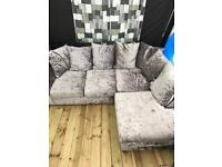 L shape corner sofa grey