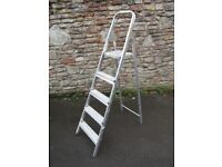 Aluminium step ladders, real vintage paint splashes! Lots to go, see other listings
