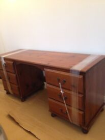 Solid wood dressing table, or computer desk