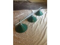 PROFESSIONAL POOL TABLE LIGHTS /SNOOKER LIGHTS
