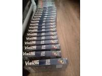 22XBASF VISION 1 KODAK vhs cassettes blank