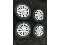 """Volkswagen Golf Spare 15"""" inch wheels with Trims not Alloys Good tyres"""