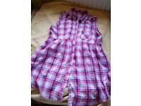 Sleeveless blouse size 18