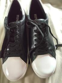 Genuine MK Frankie black optic white trainer