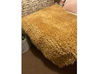 mustard rug