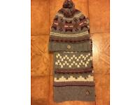 FAT FACE hat and scarf set. Fab condition