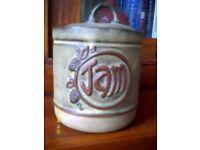 Vintage Pottery Jam Pot