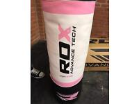 Brand new ROX punch bag with wall bracket