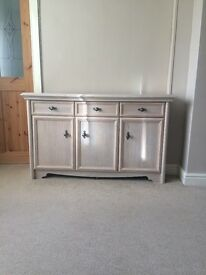Limed oak sideboard