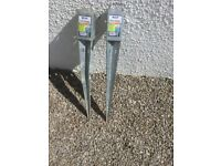 Fence post anchors