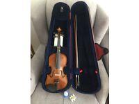 3/4 size stentor II Violin +Rosin +case+bow...