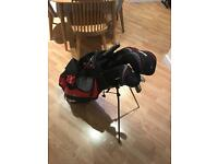 Nearly New Complete Golf Set + umbrella + balls + size ten Nike golf shoes