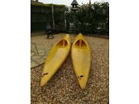 Pair of 12ft kayaks/ canoes